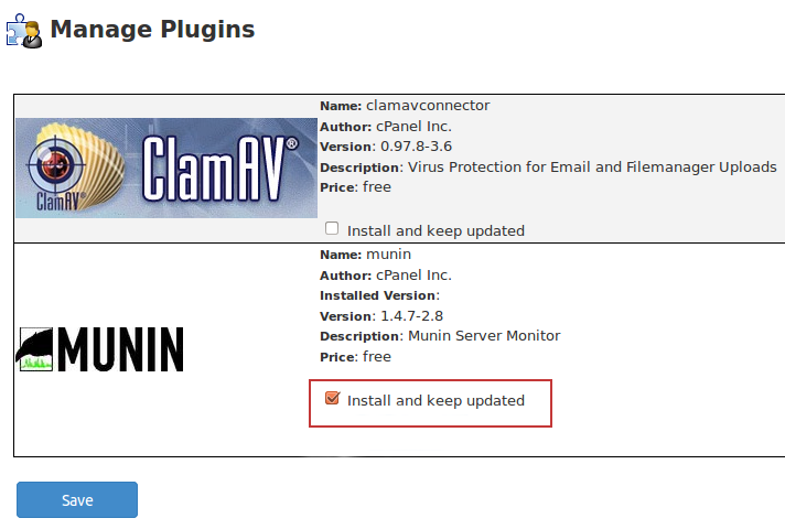 installing the munin plugin