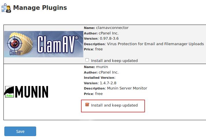 installing the munin plugin